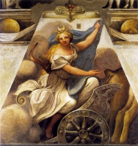 Diana sul carro,_Correggio